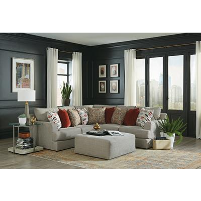 Jackson Furniture Laguna Platinum LSF Sofa Sectional