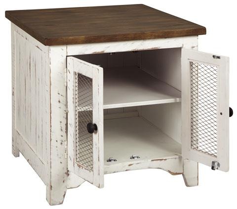 Ashley Furniture   Wystfield White/Brown End Table