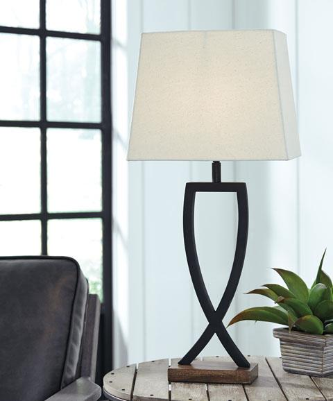 Signature Design | Makara Black/Brown Lamps
