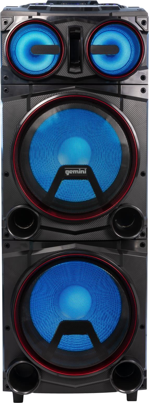 "Gemini | Gemini - Dual 15"" Bluetooth Speaker Towers w/LED Lighting"