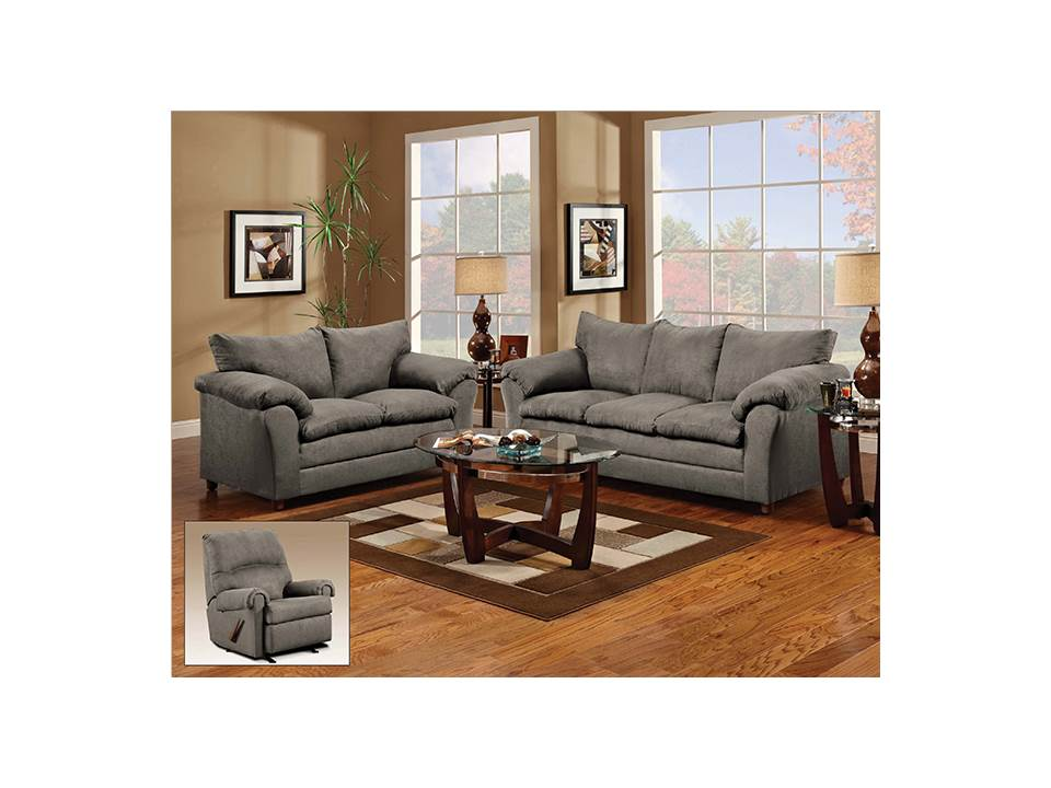 Rent American Wholesale Furniture 1150 Sofa Flat Suede