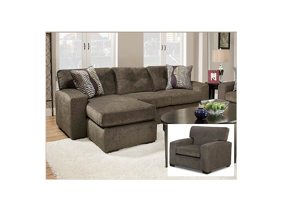 Rent american wholesale furniture 5100 sofa with chaise for Furniture rent to buy