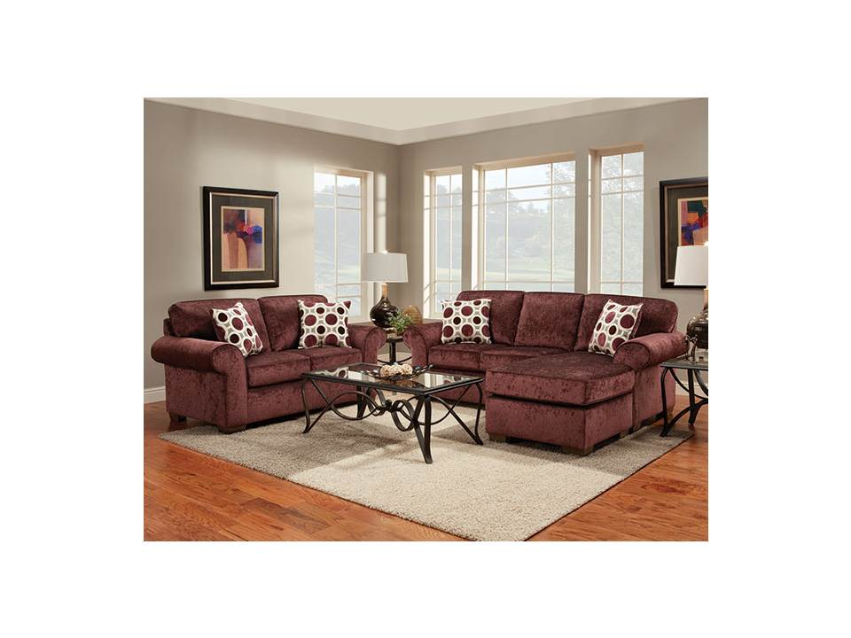 Rent American Wholesale Furniture 5300 Sofa With Chaise