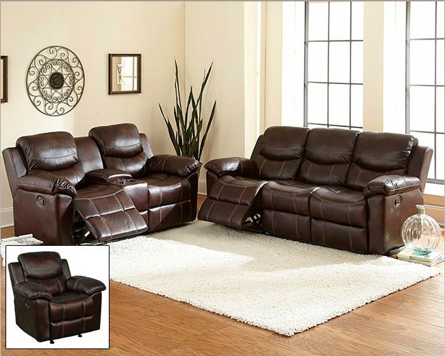Bonded Leather Reclining Sofa 650 x 520
