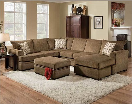 Rent American Wholesale Furniture 6800 2 Piece Sectional Cornell