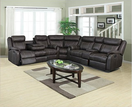 American Wholesale Furniture 3-Piece Sectional - Gin Rummy Charcoal