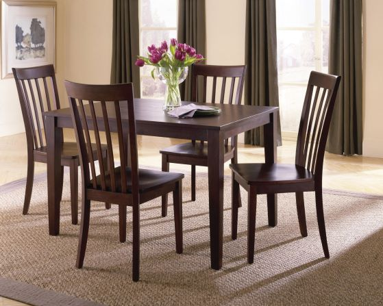Chocolate Brown 5-pc Dinette