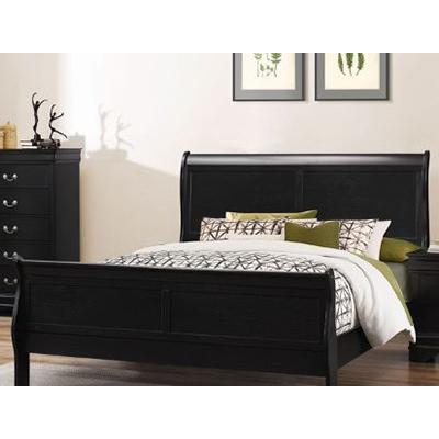 Ebony Louis Phillipe Queen Bed