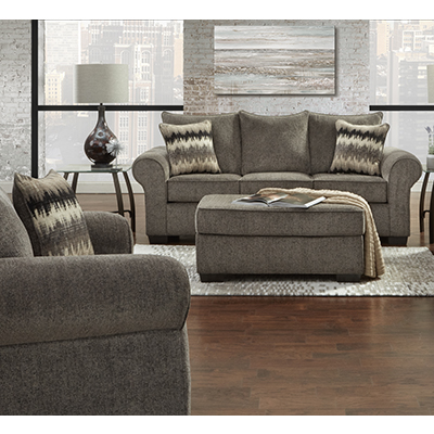Affordable Camero Pewter SOFA and LOVESEAT