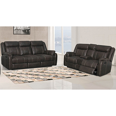 American Imports Gin Rummy Reclining Sofa and Console Loveseat