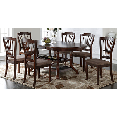 American Imports Bixby Espresso Table & 6 Chairs
