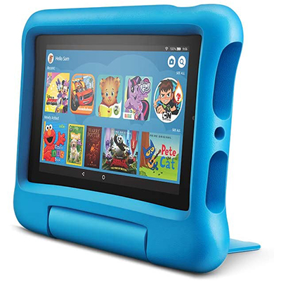 """KidsFire 7"""" Tablet & Protector, Blue"""