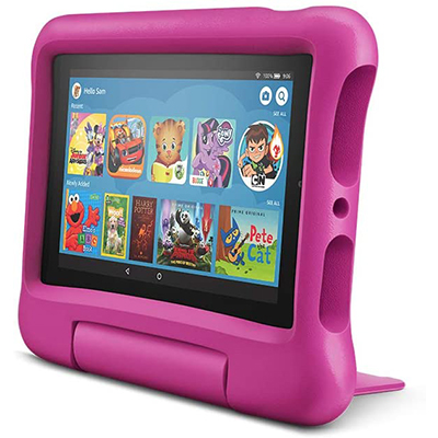 """KidsFire 7"""" Tablet & Protector, Pink"""