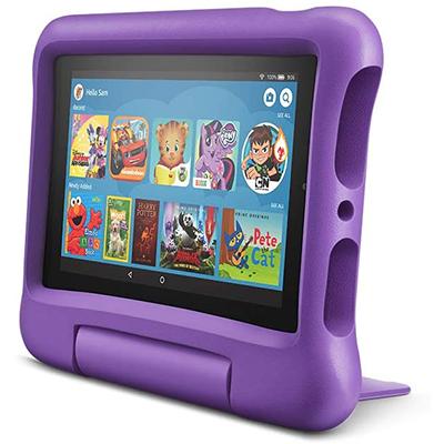 """KidsFire 7"""" Tablet & Protector, Purple"""