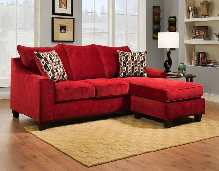 Good Rent 2957 Sectional W/ Ottoman   Crimson | Living Room Furniture Rental |  RENT 2 OWN