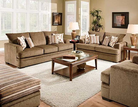 Rent American Wholesale Furniture 3650 Sofa Cornell Cocoa Living