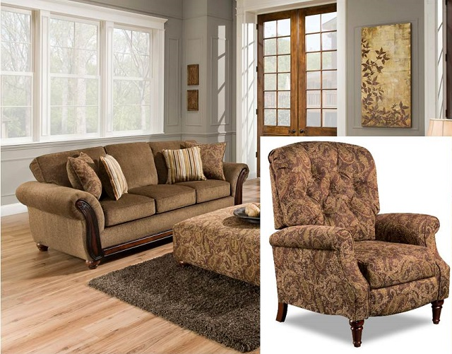 Rent American Wholesale Furniture 5650 Sofa Recliner
