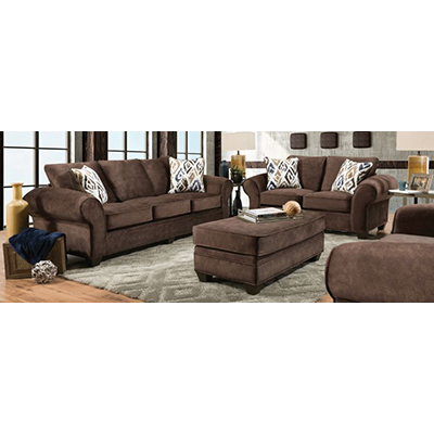 American Imports Athena Brown Sofa & Chair-1/2