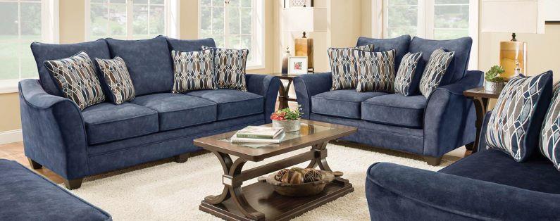 Pleasant Rent Athena Navy Loveseat Living Room Furniture Rental Creativecarmelina Interior Chair Design Creativecarmelinacom