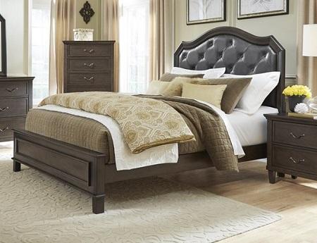 rent progressive furniture brixton hazelnut queen bed bedroom rh my r2o com