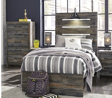 Drystan Multi Twin Bed with Sconce Light