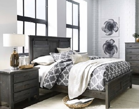 Progressive Lucerne Barn Door Charcoal Queen Bed