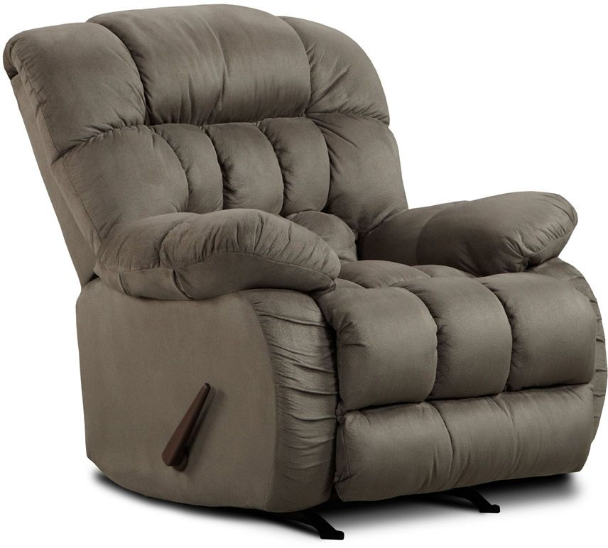 Rent American Wholesale Furniture Rocker Recliner   Soft Suede Graphite |  Recliners Furniture Rental | RENT 2 OWN