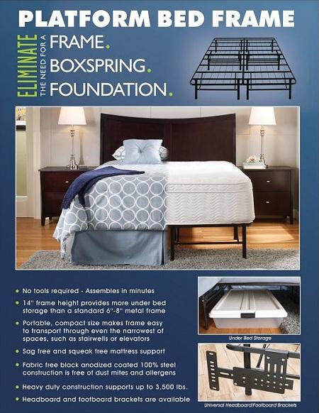Rent 18 Platform Base Full Mattresses Frames Furniture Rental