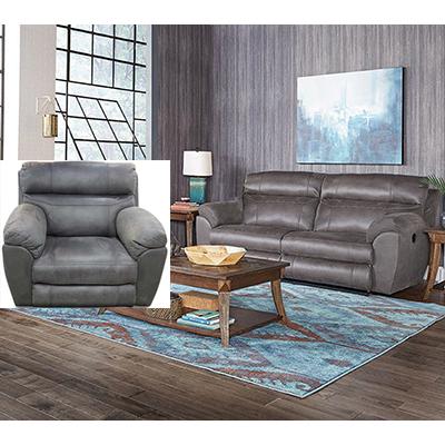 Catnapper Atlas Charcoal Reclining Sofa & Recliner