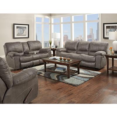 Trent Charcoal Reclining Sofa & Recliner