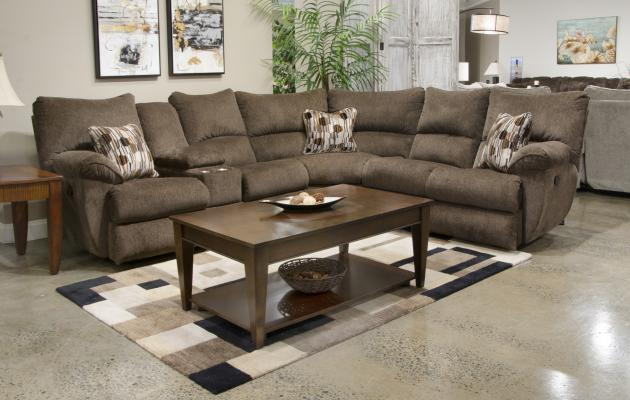 Catnapper Elliot Chocolate Reclining Sectional