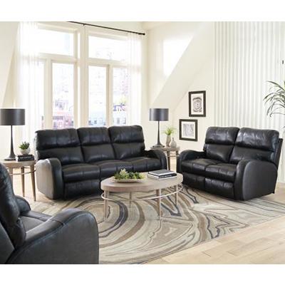 6446 Angelo Black Leather Power Motion Sofa
