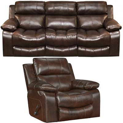 Catnapper Positano Leather Reclining Sofa & Recliner