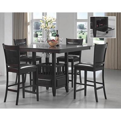 Black Pub Table & 4 Chairs