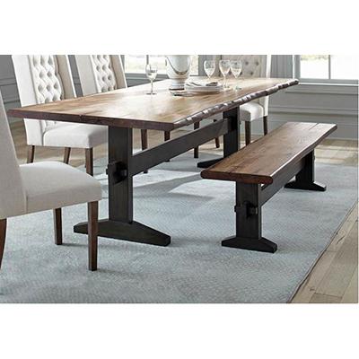 Coaster Bexley Natural Honey Black Table & 2 Benches