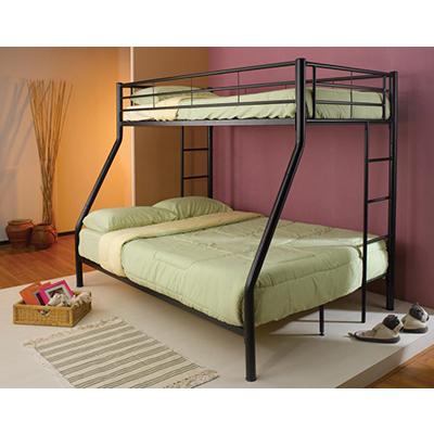 Twin over Full Metal Bunk Bed, Black