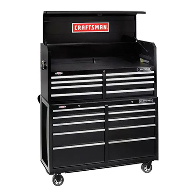 52in 2Pc 18Drawer Tool Cabinet Black