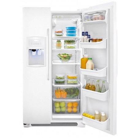 Crosley 23 Cu Ft Side By Refrigerator White