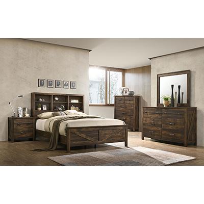 8100 Rustic Oak Queen Bed