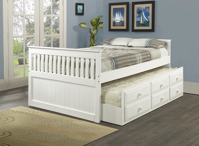 Rent Bedroom Distributors Full Size Captains Bed with Twin