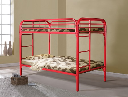 Rent 4501tt Red Bunkbed Bedroom Youth Furniture Rental Rent