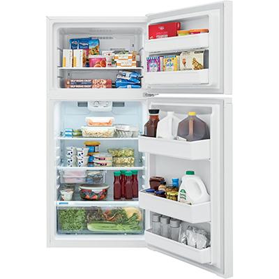 14 CF Top Mount Refrigerator, White
