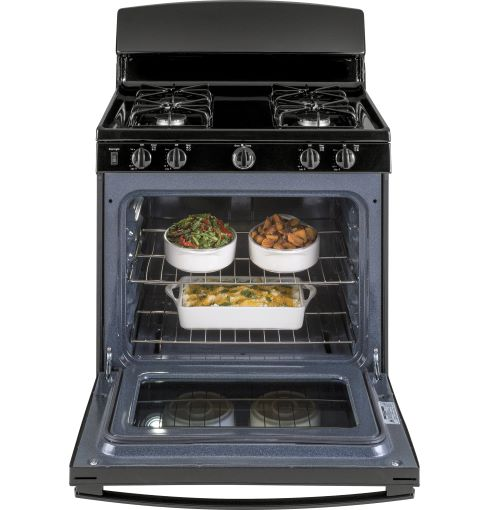 4.8 CuFt Gas Range Black