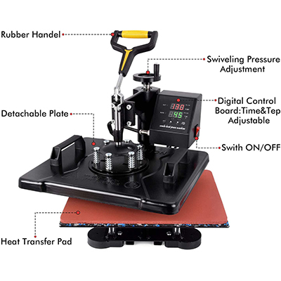 Heat Press Machine-5 in 1