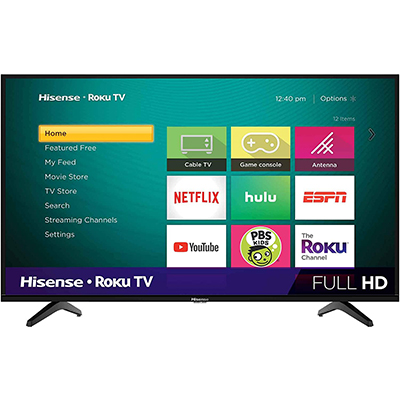 "43"" LED HD Roku Smart TV"