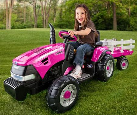 Peg Perego Pink CASE IH Magnum Tractor
