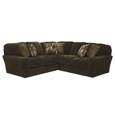 Everest Chocolate 2-Piece Sectional