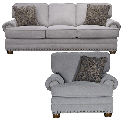 Singletary Nickel Sofa & Chair