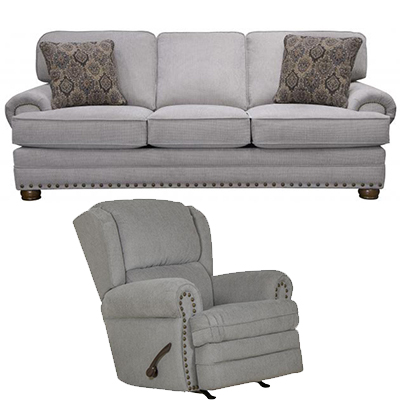 3241 Singletary Nickel Sofa & Recliner
