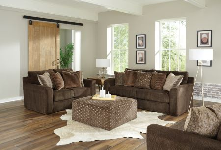 3291 Midwood Chocolate Sofa & Loveseat